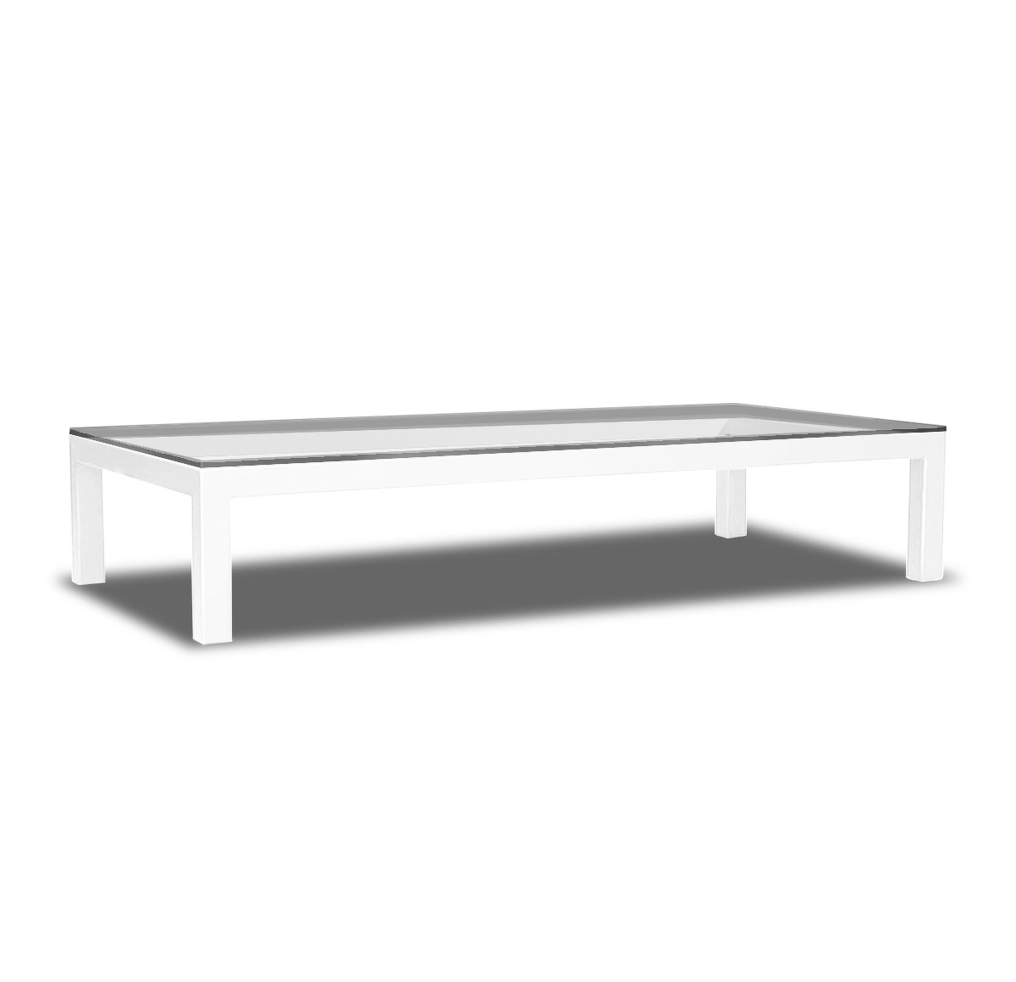 Classic parsons cocktail table powder white geotapseo Gallery