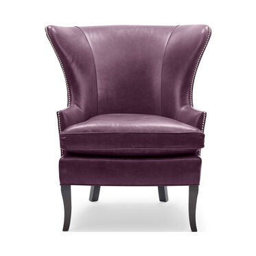 WILL LEATHER CHAIR, MONT BLANC - AUBERGINE, hi-res