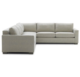 CARSON LEFT SECTIONAL, Sunbrella Performance Textured Two-Tone Linen - SILVER                             , hi-res