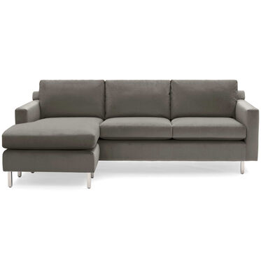 HUNTER STUDIO NO WELT 85 LEFT CHAISE SECTIONAL, PIPPIN - MINK, hi-res
