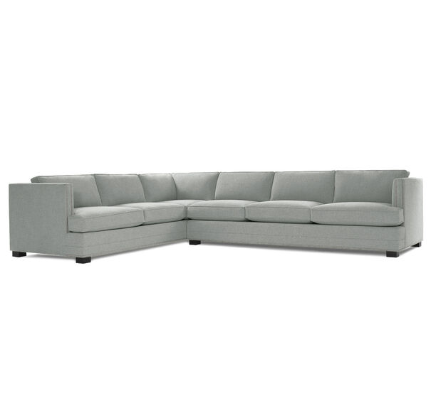 KEATON SHELTER RIGHT ARM SECTIONAL CLASSIC DEPTH WITH NAILHEAD, FULMER - PEWTER, hi-res