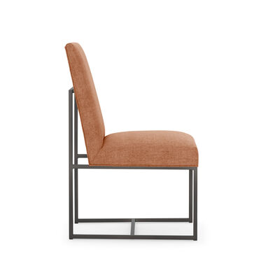 GAGE LOW DINING CHAIR - PEWTER, COSTA - PERSIMMON, hi-res