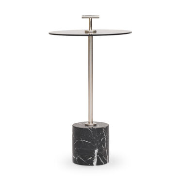 HANDLER PULL-UP SIDE TABLE - BLACK, , hi-res