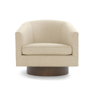 BIANCA FULL SWIVEL CHAIR, WINGATE - LINEN, hi-res