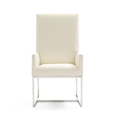GAGE TALL ARM DINING CHAIR, KOKO - WHITE, hi-res