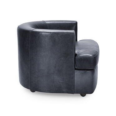 RYDER LEATHER CHAIR, MONT BLANC - BLUE SMOKE, hi-res