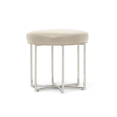ASTRA LEATHER PULL-UP STOOL, MONT BLANC - IVORY, hi-res