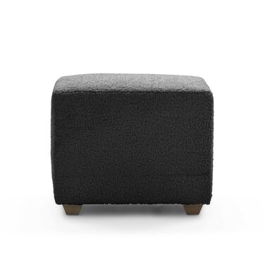 FRANNY SQUARE PULL UP OTTOMAN, SHERPA - CHARCOAL, hi-res