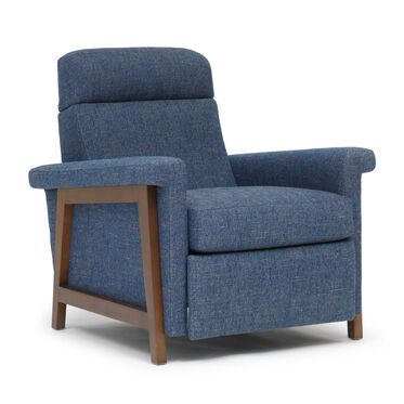 ARLEN ELECTRIC RECLINER, HOLLINS - INDIGO, hi-res