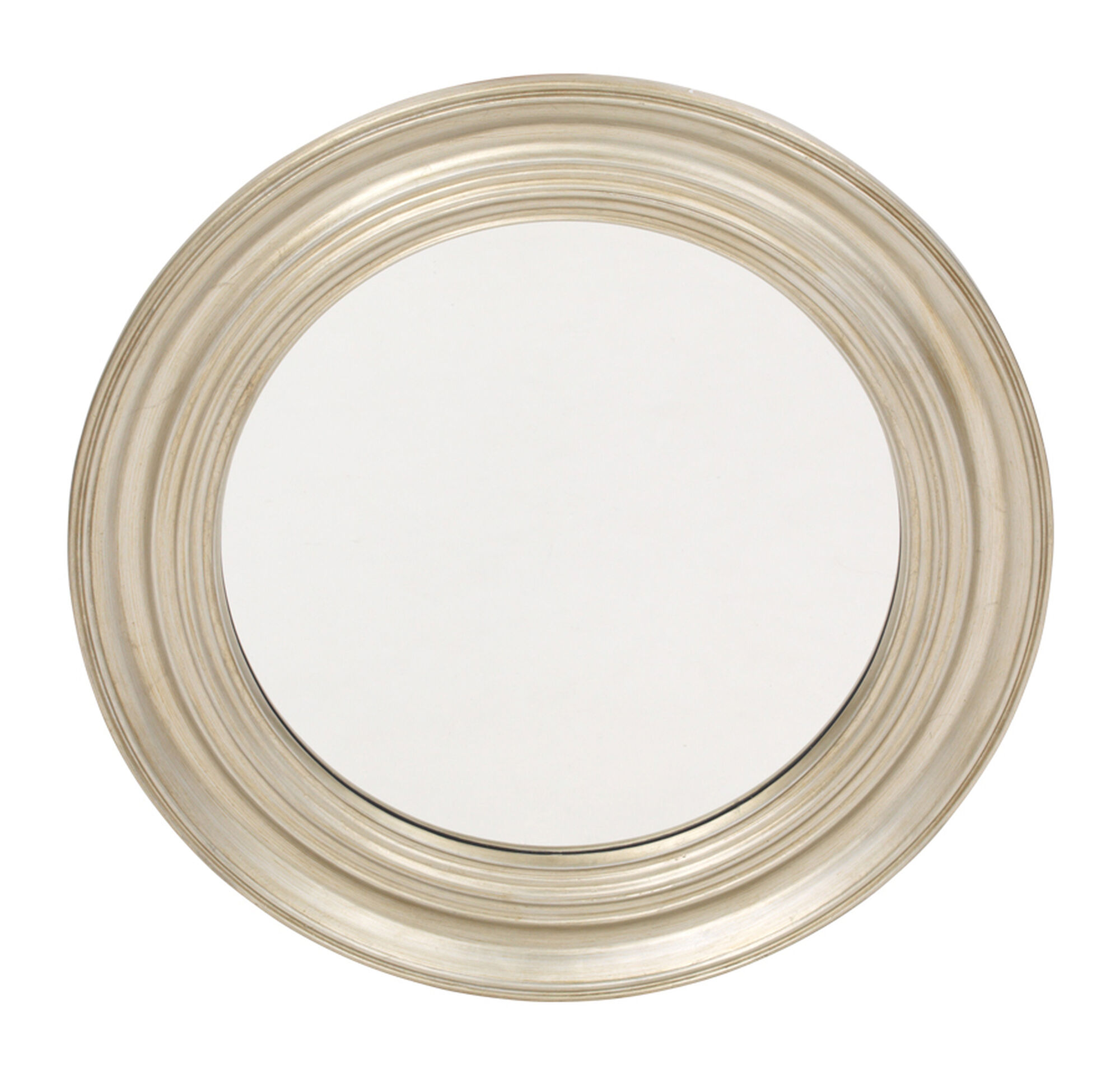 Round Antique Silver Mirror Hi Res
