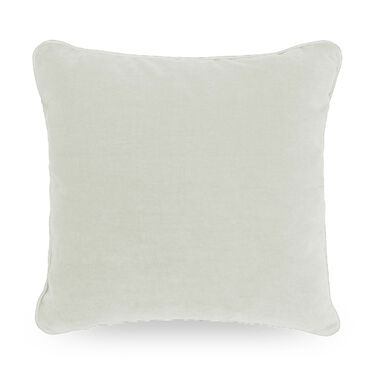 21 IN. SQUARE THROW PILLOW, BELGIAN LINEN - WHIT, hi-res