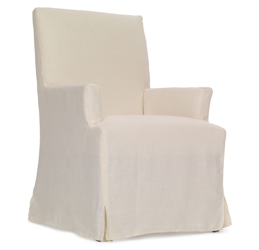 JULIA ARM DINING CHAIR   SLIPCOVER, , Hi Res