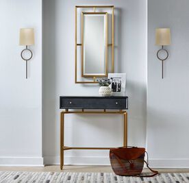 MARCO SCONCE - AGED BRASS PARCHMENT SHADE, , hi-res