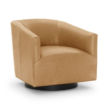 COOPER LEATHER RETURN SWIVEL, MONT BLANC - FAWN, hi-res