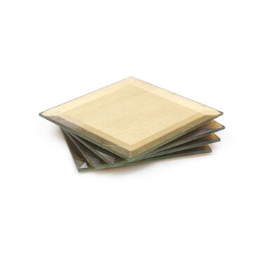 BEVELED GOLD LEAF COASTERS, , hi-res