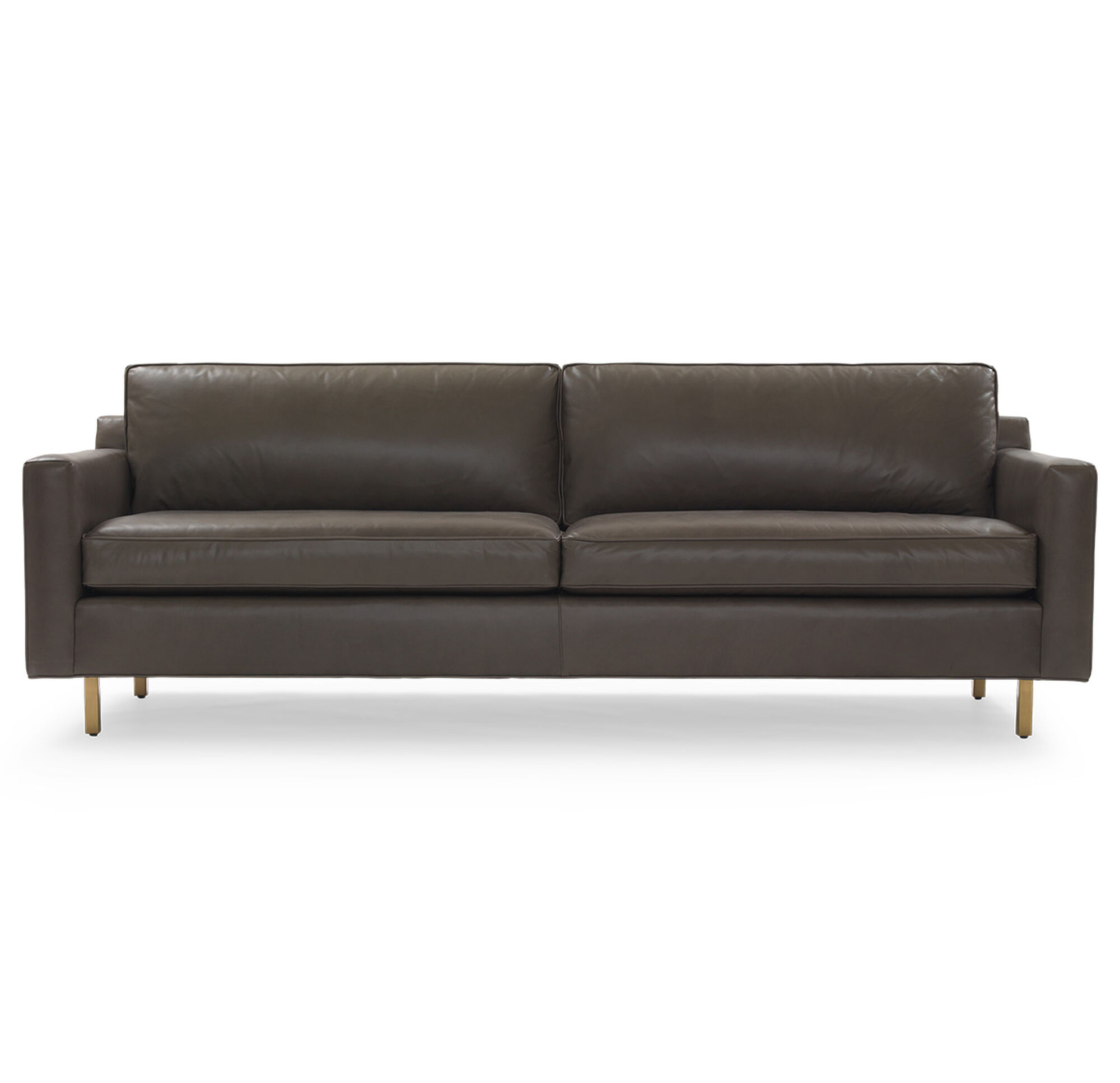 Leather Studio Sofa Dryden Leather Sofa Crate And Barrel