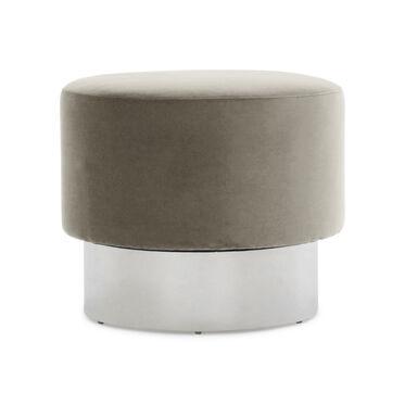 MARGAUX  SWIVEL OTTOMAN, Performance Micro Velvet - CAFE, hi-res