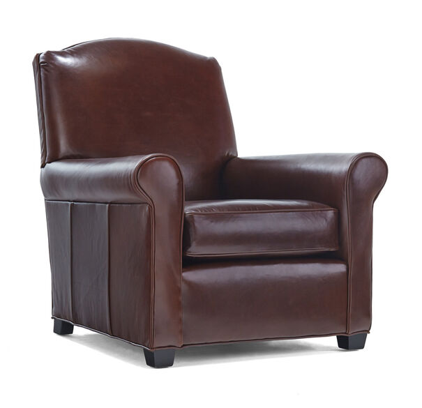 CHANDLER LEATHER CHAIR, PENLAND - TOBACCO, hi-res