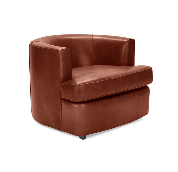RYDER LEATHER CHAIR, MONT BLANC - CHIANTI, hi-res