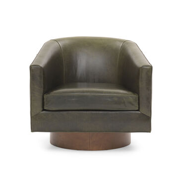 BIANCA FULL SWIVEL LEATHER CHAIR, MONT BLANC - WINTER PINE, hi-res