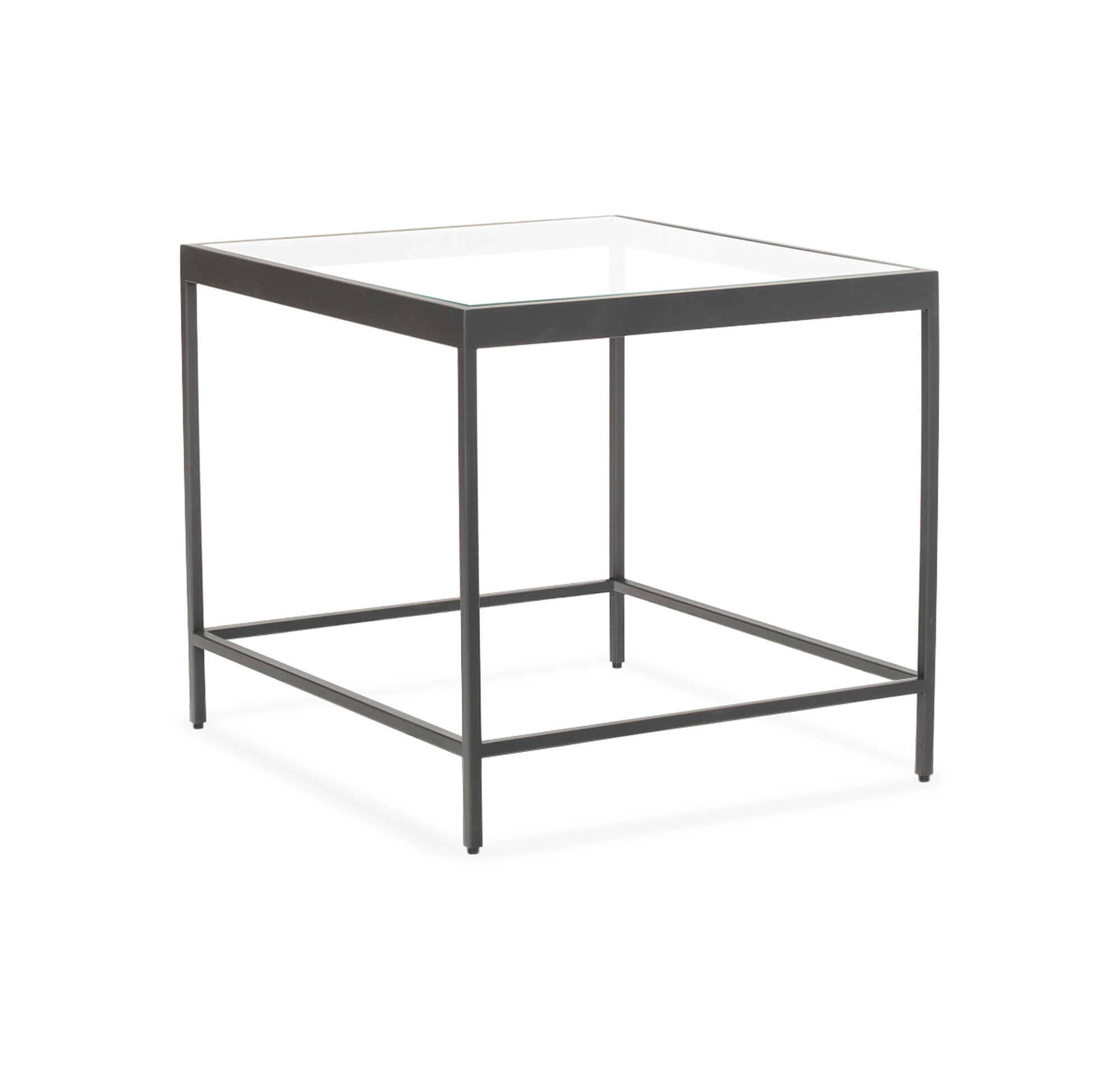 VIENNA SIDE TABLE PEWTER - Pewter glass coffee table