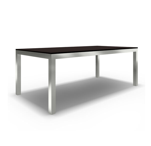 CLASSIC PARSONS DINING TABLE - POLISHED STAINLESS STEEL, , hi-res