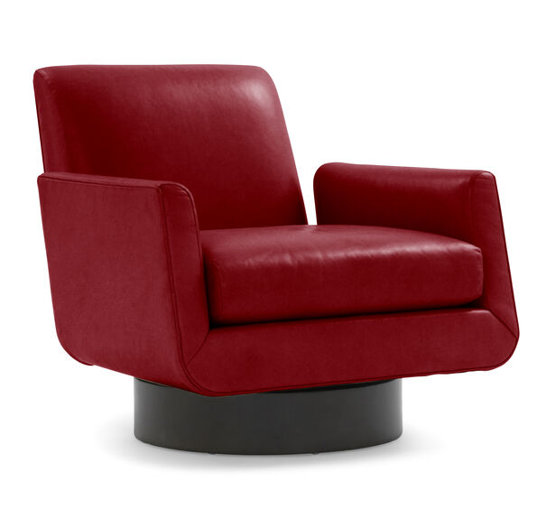 SUPERNOVA LEATHER RETURN SWIVEL CHAIR, , hi-res
