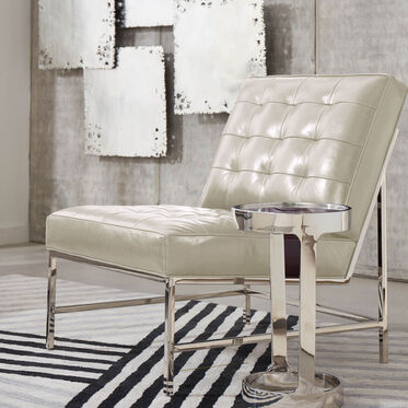 MAJOR LEATHER CHAIR, MONT BLANC - IVORY, hi-res