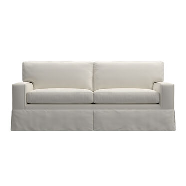 ALEX II SUPER LUXE QUEEN SLIPCOVER SLEEPER SOFA, BULL DENIM - WHITE, hi-res
