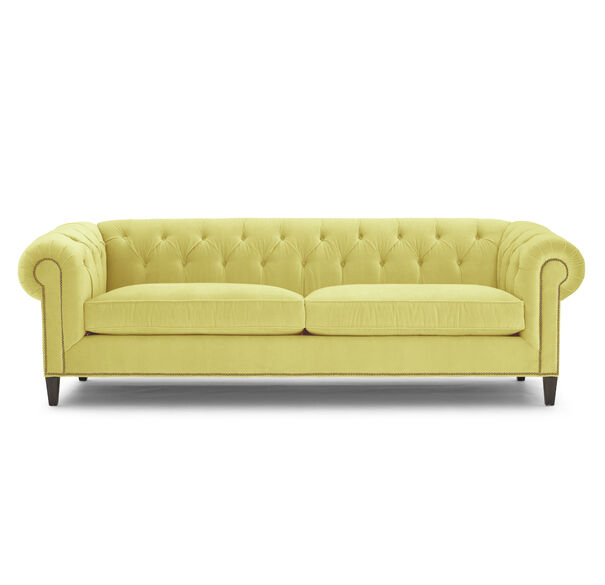 ADDISON SOFA WITH NAILHEAD, BOULEVARD - CHARTREUSE, hi-res