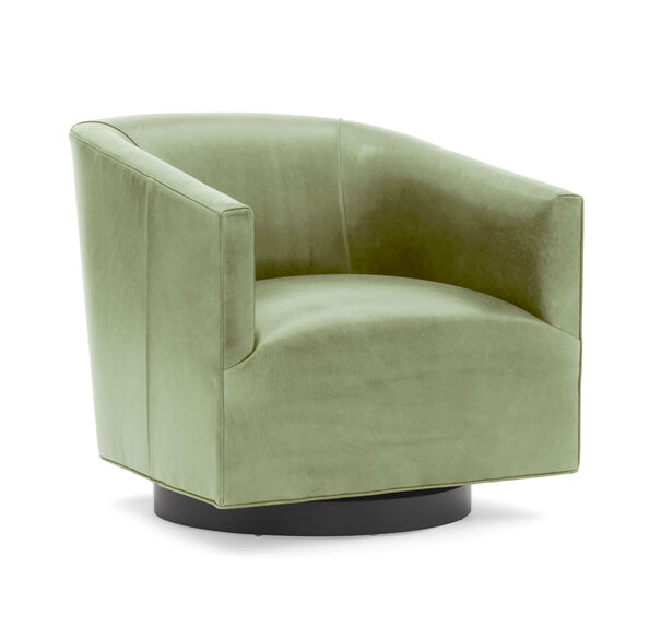 Cooper Studio Leather Swivel Chair, MONT BLANC - FERN, hi-res