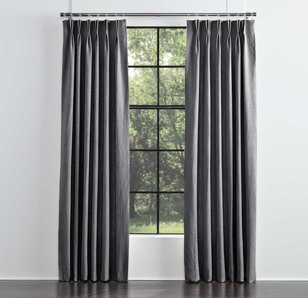 LEGACY BASIC SINGLE PANEL DOUBLE PLEAT, LEGACY - GRAPHITE, hi-res