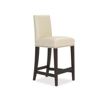 ANTHONY LEATHER BAR STOOL, CORDELL - DOVE, hi-res