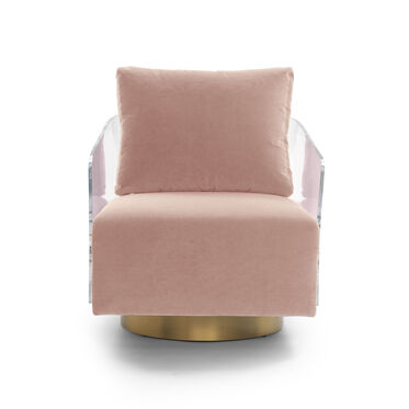 LUCY FULL SWIVEL CHAIR, VIVID - BLUSH, hi-res