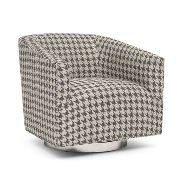 COOPER RETURN SWIVEL, HOUNDSTOOTH - CHARCOAL, hi-res