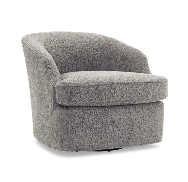 ARIES FULL SWIVEL CHAIR, SHERPA - PEWTER, hi-res