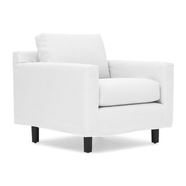 HUNTER STUDIO SLIPCOVER CHAIR, SOPHIE LINEN - WHITE, hi-res