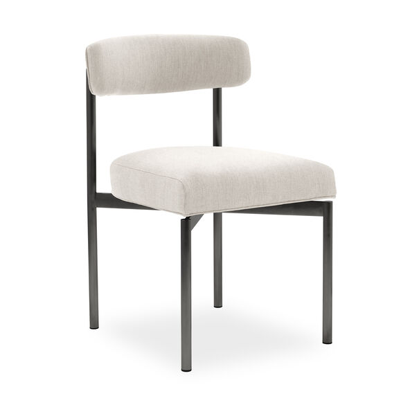 REMY DINING CHAIR - PEWTER, Sunbrella Performance Basket Weave - ALMOND                             , hi-res
