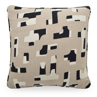 "LINEN 22"" X 22"" ACCENT PILLOW, TERRAIN - STONE, hi-res"