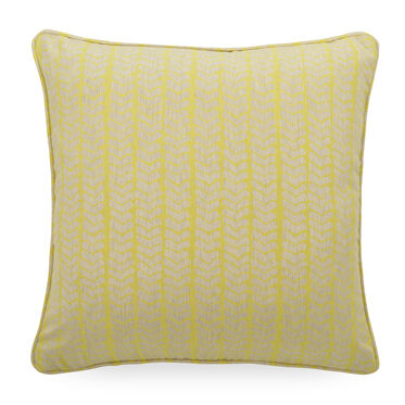 "JACQUARD 20"" X 20"" ACCENT PILLOW, AZARA - CITRINE, hi-res"