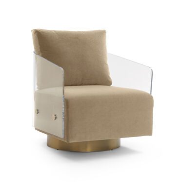 LUCY FULL SWIVEL CHAIR, VIVID - TAUPE, hi-res