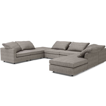 BIG EASY 8-PC SECTIONAL, COSTA - GRAPHITE, hi-res
