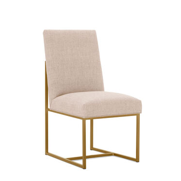 GAGE LOW DINING CHAIR - BRUSHED BRASS, COSTA - BLUSH, hi-res