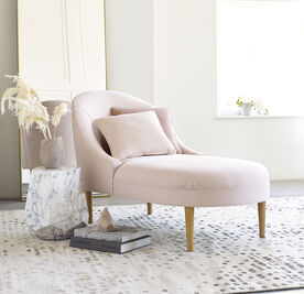 BELLA CHAISE, Sunbrella Performance Textured Two-Tone Linen - BLUSH                             , hi-res