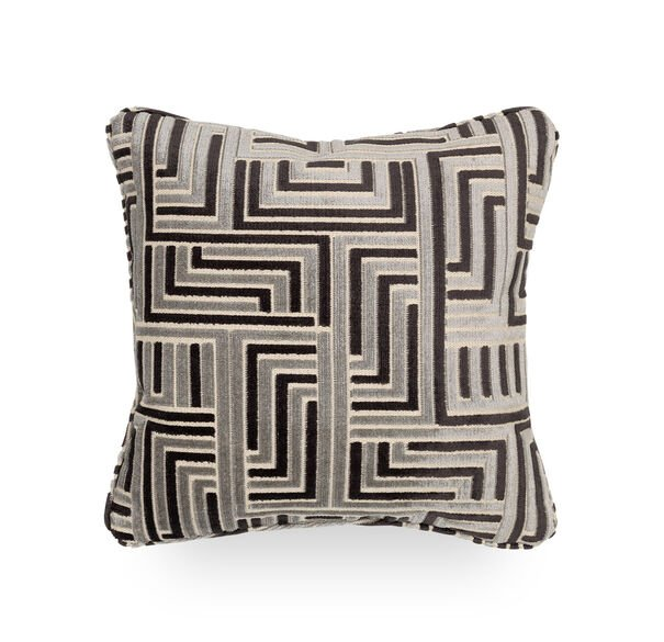 17 IN. SQUARE THROW PILLOW, CRETE - MIDNIGHT, hi-res