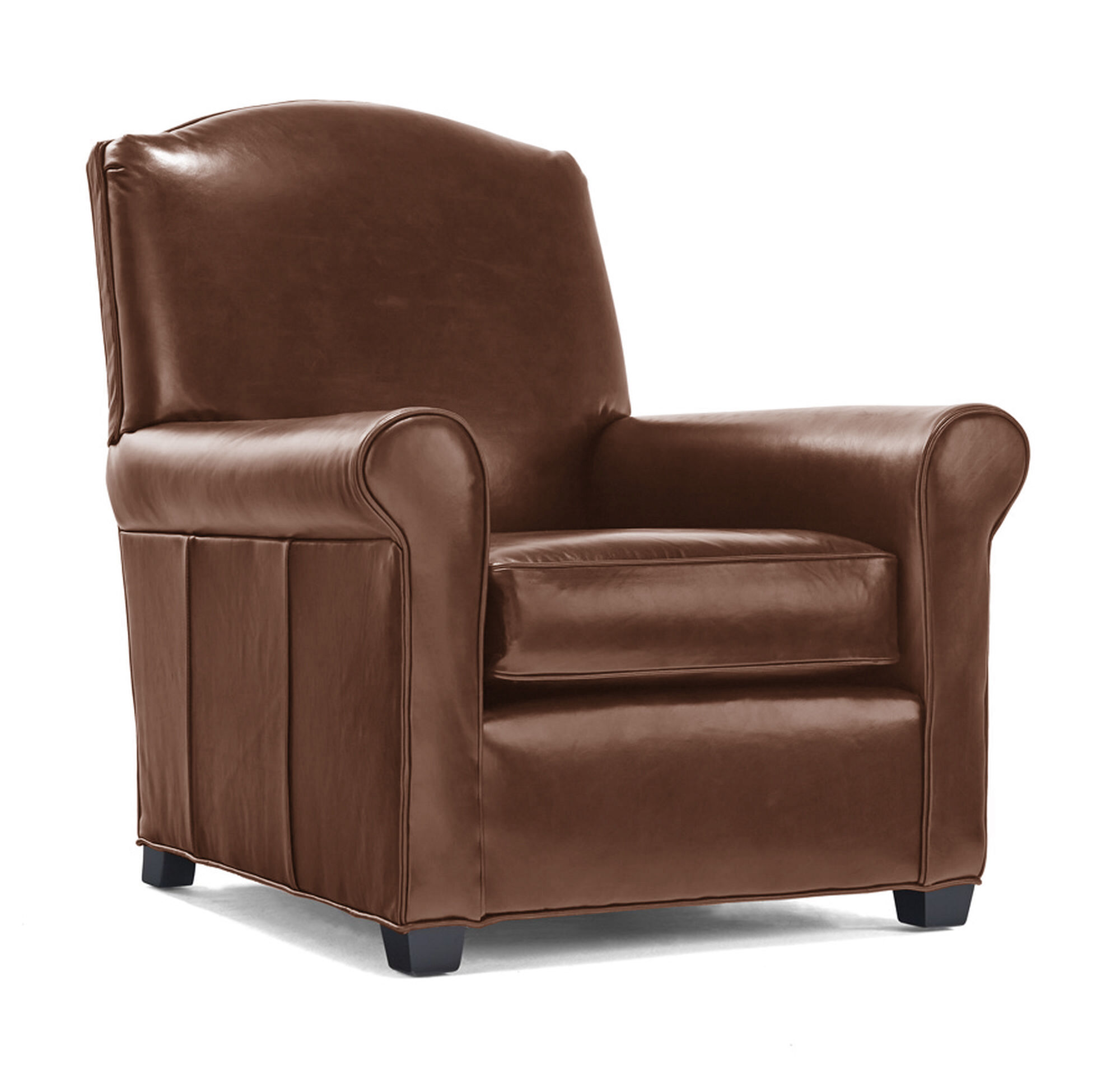 CHANDLER LEATHER CHAIR, PENLAND   TOBACCO, Hi Res