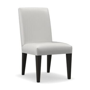 ANTHONY LEATHER TALL SIDE DINING CHAIR, TAHOE - WHITE, hi-res