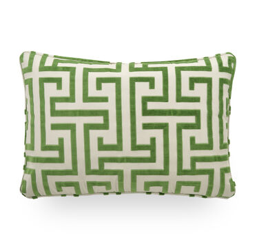 22 X 15 IN. THROW PILLOW, DELMONICO - EMERALD, hi-res