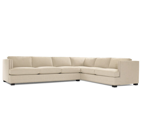 KEATON SHELTER LEFT ARM SECTIONAL CLASSIC DEPTH WITH NAILHEAD, FULMER - LINEN, hi-res