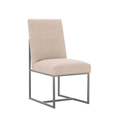 GAGE LOW DINING CHAIR - BRUSHED STAINLESS STEEL, COSTA - BLUSH, hi-res